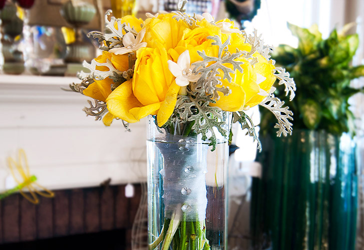 Yellow Wedding Flowers in Green Bay