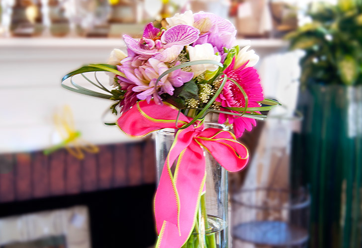 Magenta Callo Lillies Wedding Flowers in Green Bay