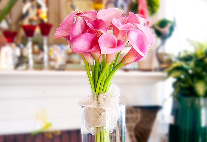 Pink Calla Lillies Wedding Flowers in Green Bay