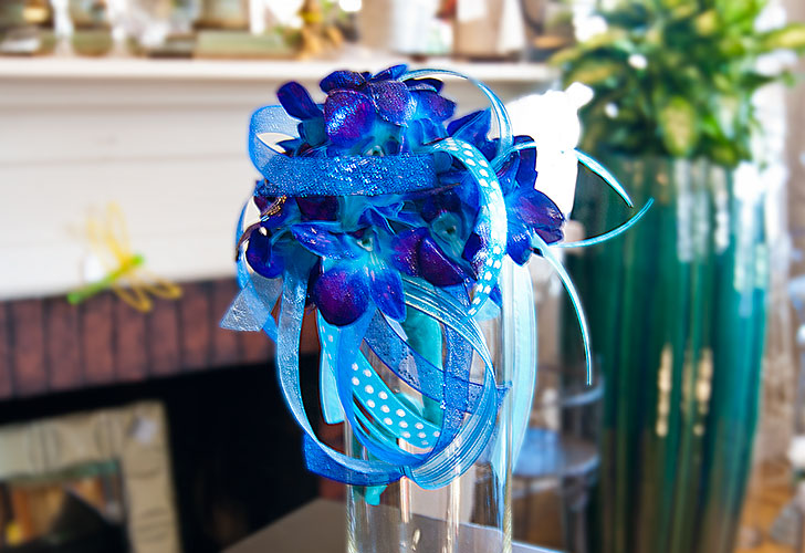 Blue Orchid Wedding Flowers in Green Bay