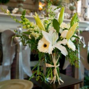 Aster park floral all white flower arrangement all white flower arrangement mightylinksfo